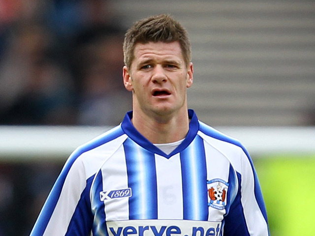 Kilmarnock's Michael Nelson in action on January 28, 2012
