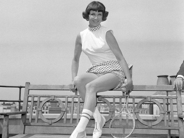 Gussie Moran at Simpson's Department Store, London on June 17, 1968