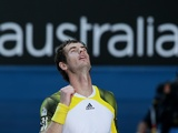 Andy Murray celebrates his quarter-final victory over Jeremy Chardy on January 23, 2013
