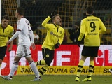 Dortmund's Jakub Blaszczykowski celebrates a goal against Nuremberg on January 25, 2013