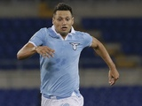 Lazio striker Mauro Zarate in action against Genoa on September 23, 2012