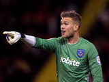 Portsmouth goalkeeper Mikkel Andersen during his team's match with Sheffield United on October 29, 2012