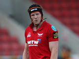 Scarlets' Simon Easterby in action on September 13, 2009