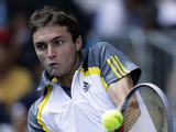 Frenchman Gilles Simon during his fourth round match at the Australian Open tennis championship on January 21, 2013