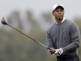 Tiger Woods in action at the Farmers Open on January 27, 2013