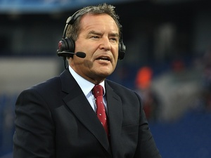 Sky Sports presenter Jeff Stelling at the Champions League tie between Schalke and Man Utd on April 26, 2011
