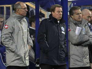 QPR manager Harry Redknapp watches his sides match against MK Dons in the FA Cup fourth round on January 26, 2013