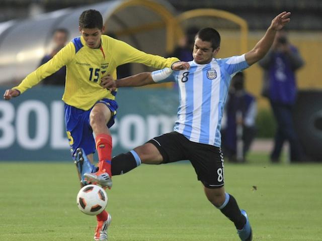 Ecuador's Jose Francisco Cevallos in under-17 action against Argentina on April 6, 2011