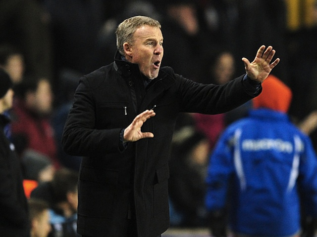 Millwall boss Kenny Jackett on the touchline against Aston Villa on January 25, 2013
