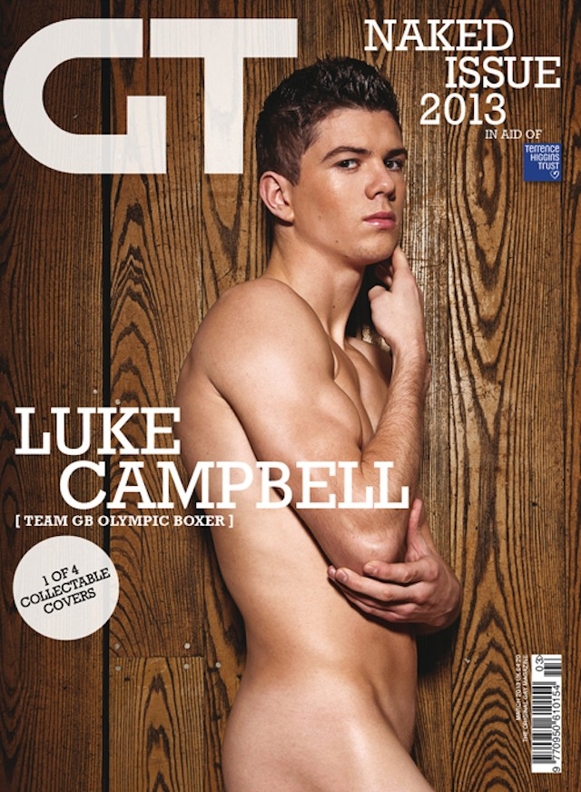 Luke Campbell naked for Gay Times magazine