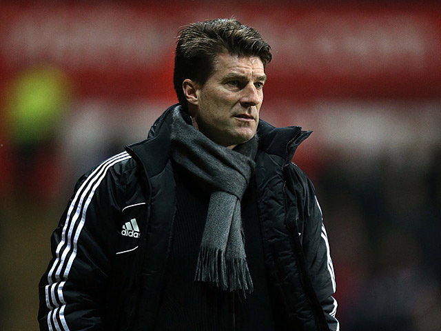Swansea City manager Michael Laudrup during the match against Chelsea on January 23, 2013