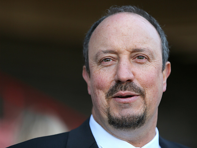 Chelsea interim manager Rafa Benitez prior to kick-off in the FA Cup fourth round tie against Brentford on January 27, 2013