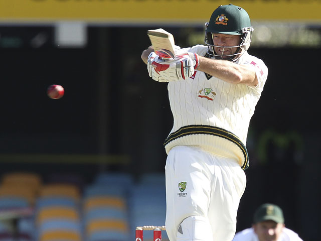 Rob Quiney in action for Australia in the first test against South Africa on November 11, 2012