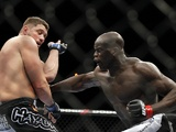 UFC fighter Cheick Kongo in action on October 29, 2011
