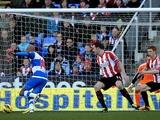 Reading's Jimmy Kebe opens the scoring against Sunderland on February 2, 2013