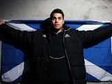 Scotland's Sean Maitland at a press call on January 30, 2013