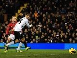 United forward Wayne Rooney opens the scoring at Fulham on February 2, 2013