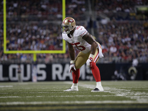 San Francisco 49ers outside linebacker Ahmad Brooks during his team's match with the St. Louis Rams on December 2, 2012