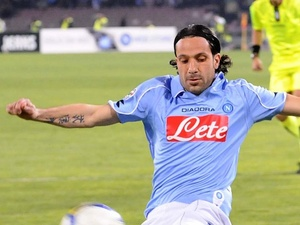 Napoli skipper Gianluca Grava in action against Milan on March 8, 2009