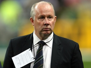 Irish assistant manager Liam Brady on November 18, 2009