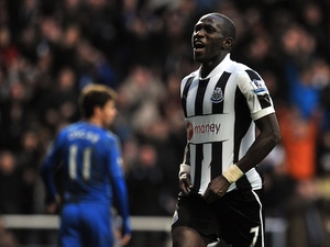 Newcastle's Moussa Sissoko celebrates his goal against Chelsea on February 2, 2013