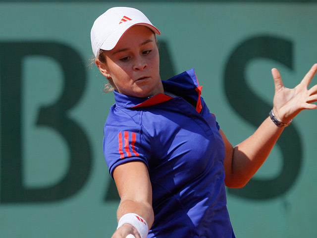 Ashleigh Barty in action on May 29, 2012