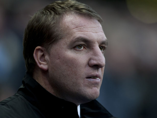 Liverpool manager Brendan Rodgers on the touchline during his sides match with Manchester City on February 3, 2013
