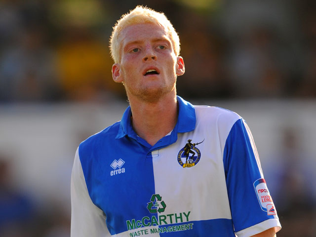 Bristol Rovers player Cian Bolger during his sides match with Cheltenham Town on October 1, 2011