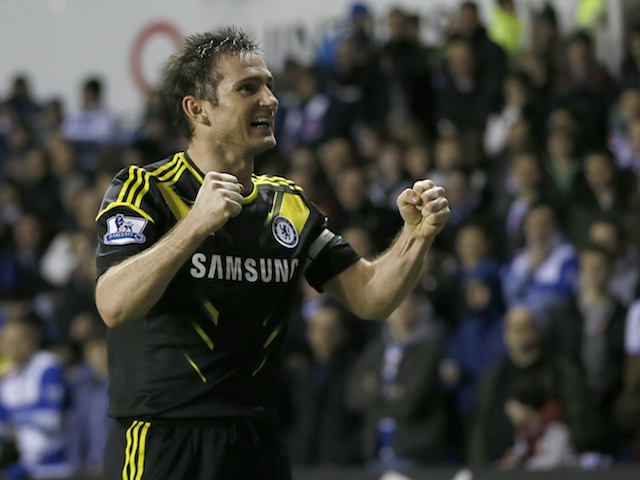 Chelsea's Frank Lampard celebrates a goal v Reading on January 30, 2013