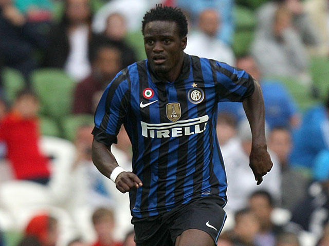 Inter Milan player MacDonald Mariga during his sides match with Manchester City in a friendly match on July 31, 2011
