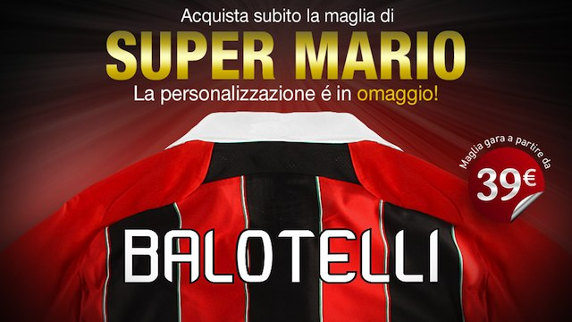 Poster for Mario Balotelli's AC Milan shirt