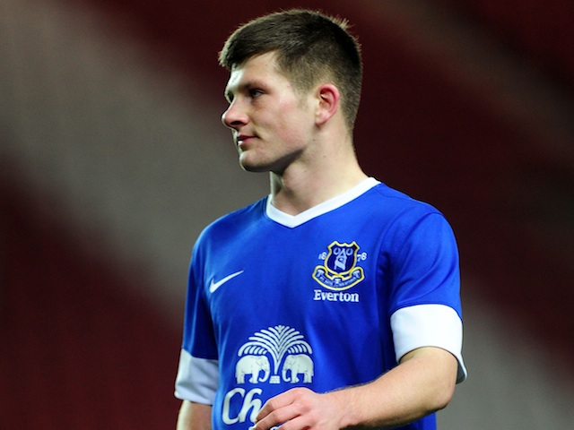 Everton's Matthew Kennedy in youth team action on December 10, 2012