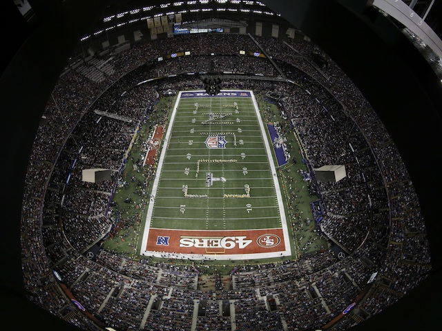 A general view of the Superdome before Superbowl XLVII on February 3, 2013