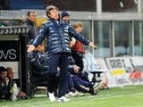 Genoa coach Alberto Malesani on the touchline against Cesena on March 25, 2012