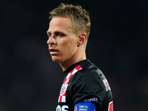 PSV Eindhoven player Balazs Dzsudzsak on April 14, 2011