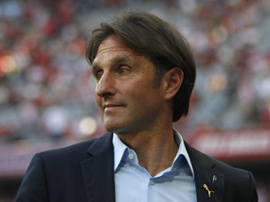 VfB Stuttgart coach Bruno Labbadia during his side's match with Bayern Munich on April 28, 2012