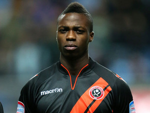Sheffield United's John Cofie prior to his side's match against Coventry City on December 4, 2012