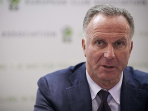 Karl-Heinz Rummenigge at a press conference in Switzerland on September 11, 2013