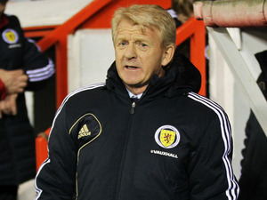 Scotland manager Gordon Strachan before his side's match with Estonia on February 6, 2013