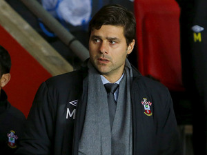 Southampton manger Mauricio Pochettino prior to kick off in his sides match with Manchester City on February 9, 2013
