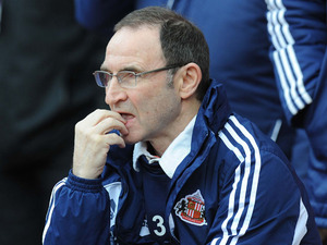 Sunderland manager Martin O'Neill during his side's match with Arsenal on February 9, 2013
