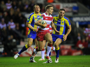 Wigan Warriors Sam Tomkins in action for his side on February 8, 2013