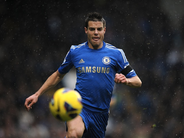 Cesar Azpilicueta in action for Chelsea against Arsenal on January 20, 2013