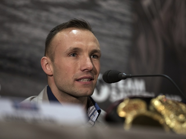 Danish boxer Mikkel Kessler in a press conference for his fight against Carl Froch on February 4, 2013