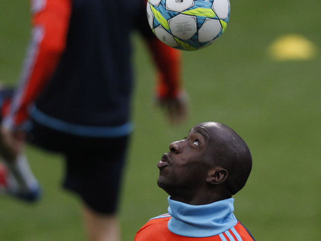Marseille defender Souleymane Diawara during a training session on March 12, 2012
