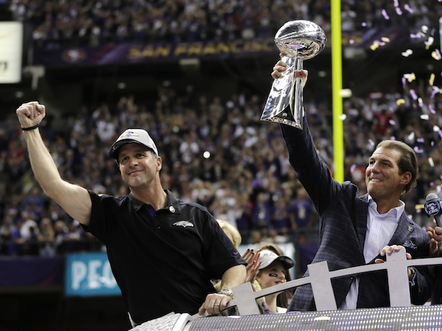 The Ravens have the Lombardi Trophy