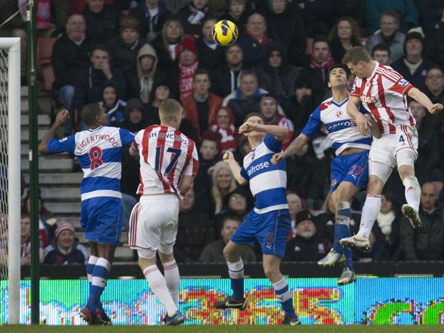 Stoke City's Robert Huth scores against Reading on February 9, 2013