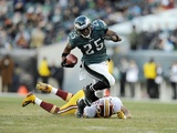 Eagles RB LeSean McCoy in action against Washington on December 23, 2012