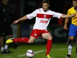 Former Stevenage player Robbie Rogers, in action against Southampton on August 28, 2012