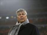 Shaktar Donetsk coach Mircea Lucescu prior to his side's match against Dortmund on February 13, 2013